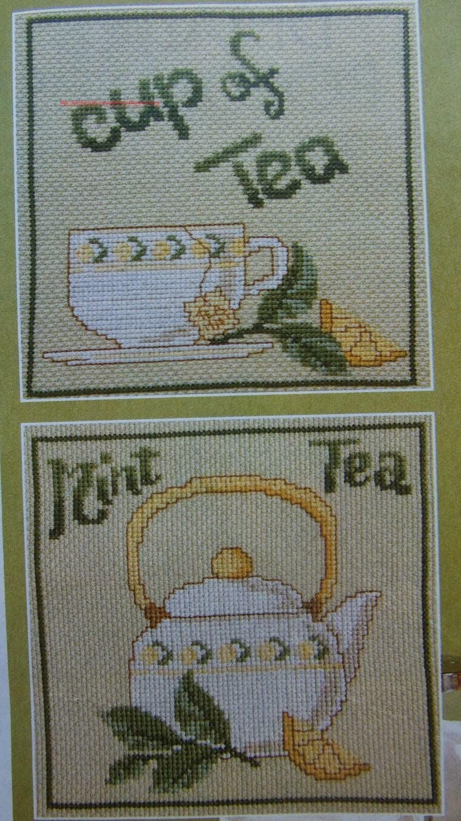 Bule e Xícara de Chá de Menta 1