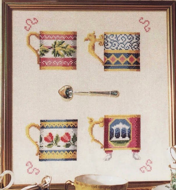 Quadro de Xícaras Vintage 1