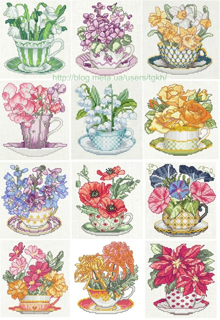 Coleção Flores em Xícaras