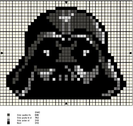 Darth Vader ponto cruz