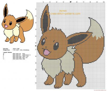 Eevee 2 Pokemon ponto cruz