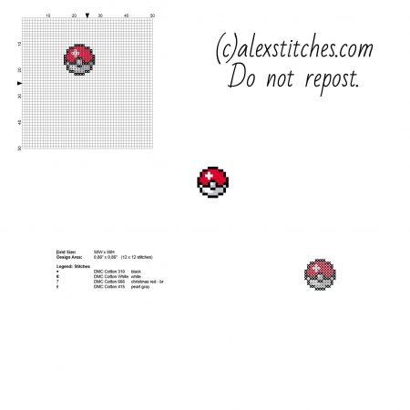 Pokebola mini Pokemon ponto cruz
