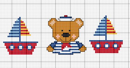 Ursinhos ponto cruz graficos bebe 22