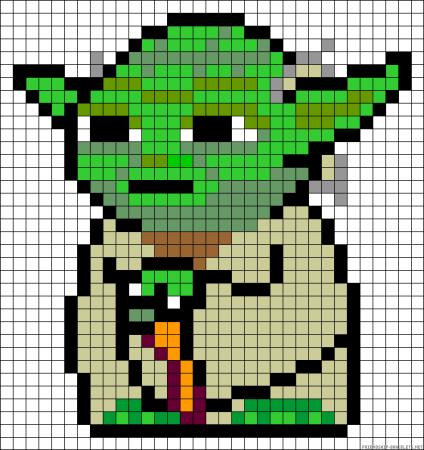Yoda star wars ponto cruz 2