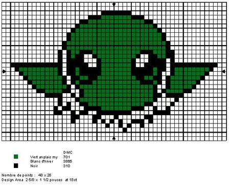Yoda star wars ponto cruz