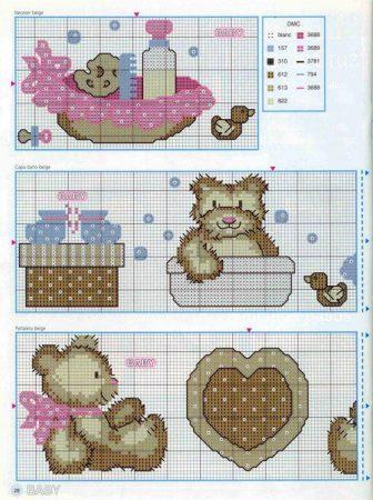 graficos bebes mamadeira ursinhos