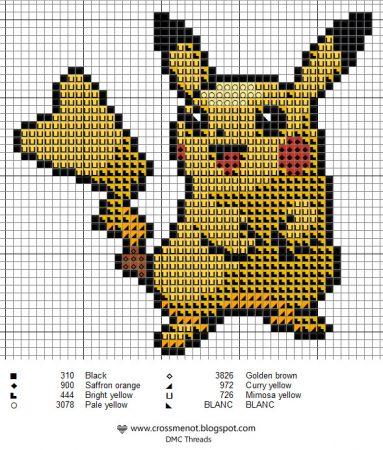 pikachu 5 Pokemon ponto cruz