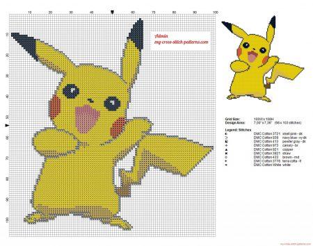 pikachu 6 Pokemon ponto cruz