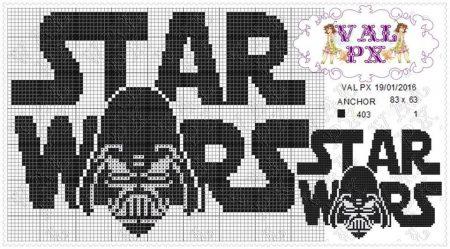 star wars Logo ponto cruz 2
