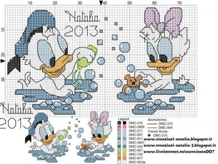 Donald e Margarida Bebês na banheira