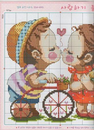 Namorados Apaixonados Casal Soda motivo Beijo Bicicleta 1