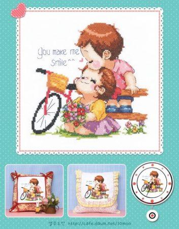 Namorados Apaixonados Casal Soda motivo Bicicleta 1