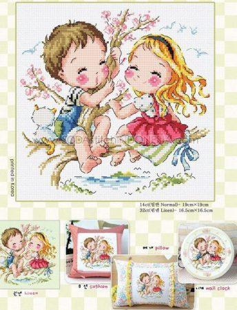 Namorados Apaixonados Casal Soda motivo brincando na cerejeira 1