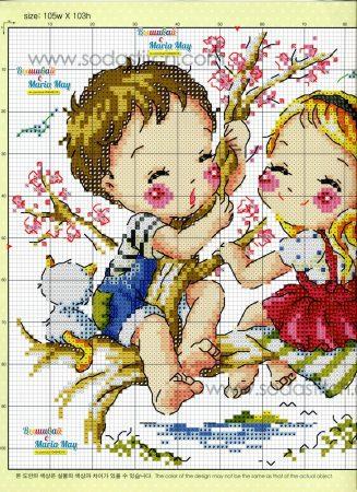 Namorados Apaixonados Casal Soda motivo brincando na cerejeira 2