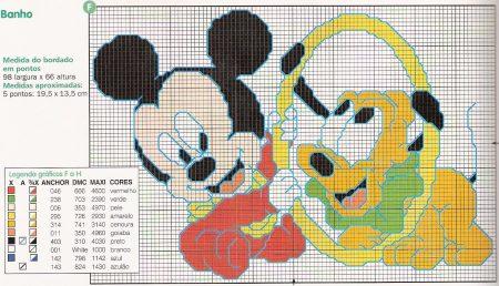 Mickey e Pluto bebê brincando