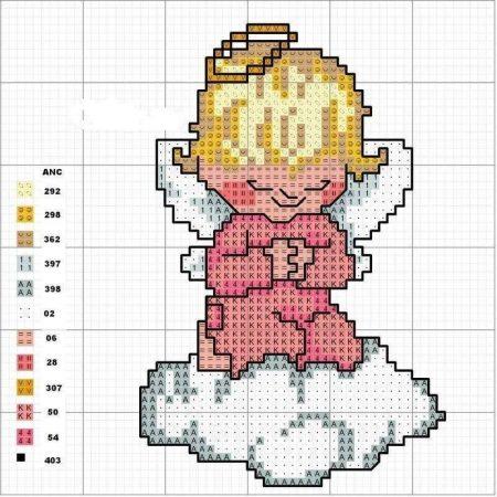 boneca menina anjinha em ponto cruz 1