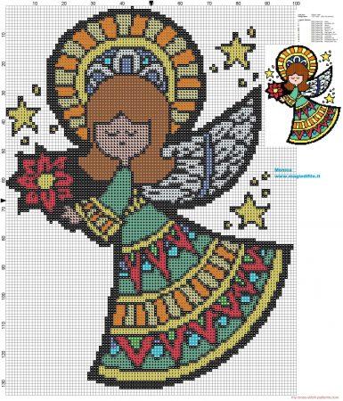 boneca menina anjinha em ponto cruz 2