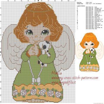 boneca menina anjinha em ponto cruz 3