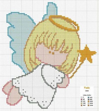 boneca menina anjinha em ponto cruz 4
