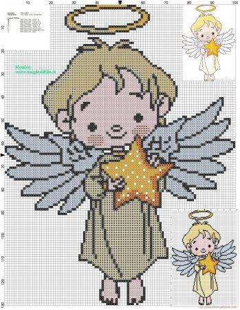 boneco menino anjinho em ponto cruz 2