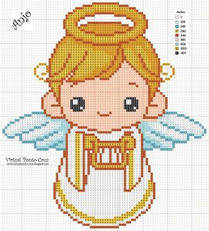 boneco menino anjinho em ponto cruz 4