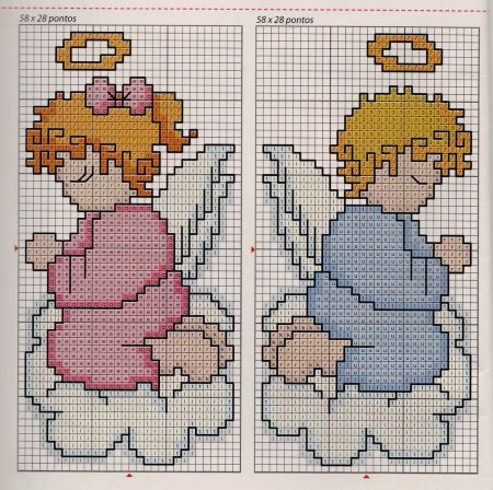 bonecos anjos em ponto cruz 4