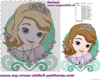 Princesa Sofia Grande em Ponto Cruz 1