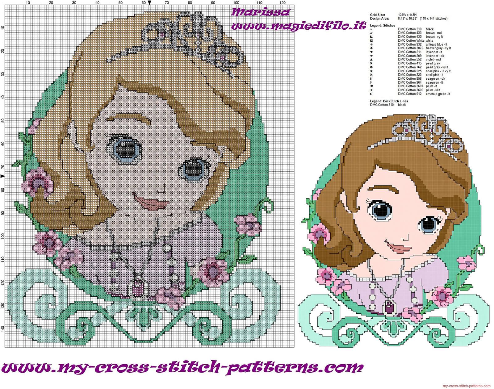 Princesinha Sofia Colecao Com 20 Graficos Em Ponto Cruz