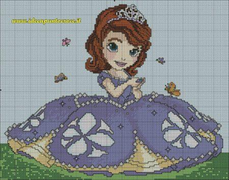 Princesa Sofia Grande em Ponto Cruz 7