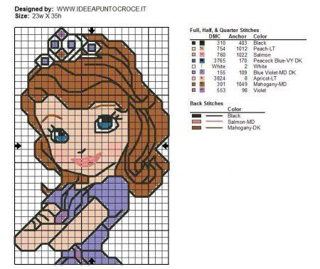 Princesa Sofia Pequeno em Ponto Cruz 2