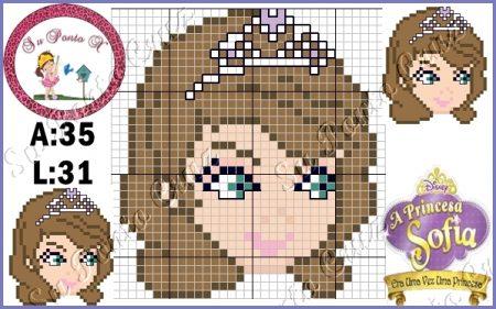 Princesa Sofia Pequeno em Ponto Cruz 3