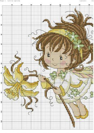 boneca menina fada 4 1 BordadoPontoCruz
