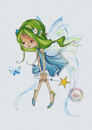 boneca menina fada 9 0 BordadoPontoCruz