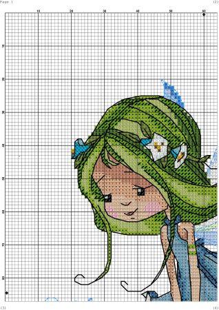 boneca menina fada 9 1 BordadoPontoCruz