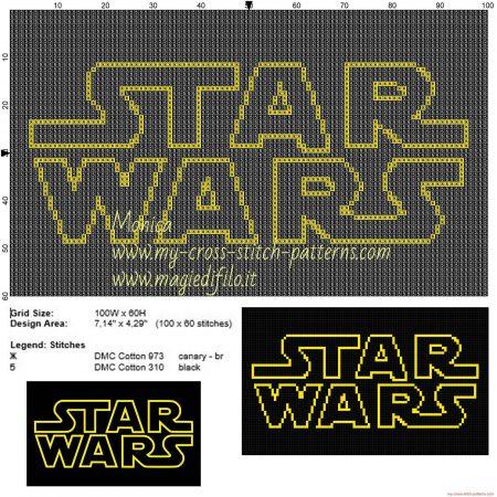 star wars Logo ponto cruz