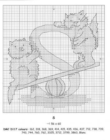 Alfabeto Gatos DMC marmalade cats 21