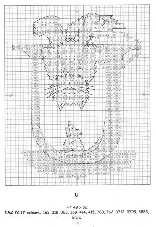 Alfabeto Gatos DMC marmalade cats 23