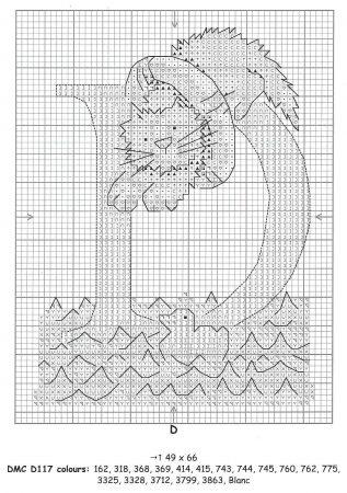Alfabeto Gatos DMC marmalade cats 6