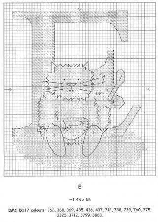 Alfabeto Gatos DMC marmalade cats 7