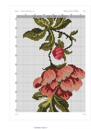 Caminho de mesa Arco de Flores Vermelhas 09