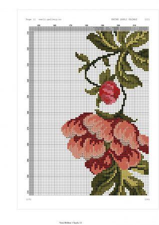 Caminho de mesa Arco de Flores Vermelhas 11