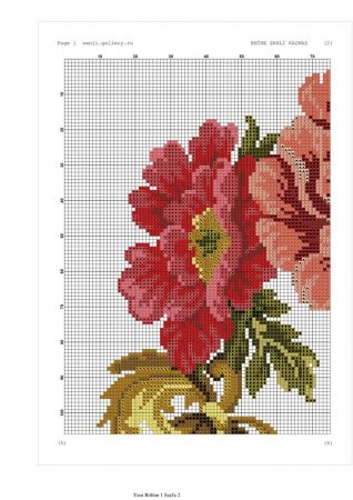 Caminho de mesa Arco de Flores Vermelhas 01