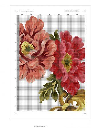 Caminho de mesa Arco de Flores Vermelhas 03