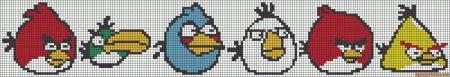 Angry Birds personagens 09 em ponto cruz