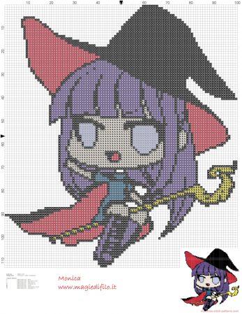 Bruxa em ponto cruz 09