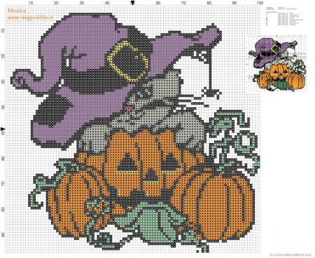 Halloween em ponto cruz 13