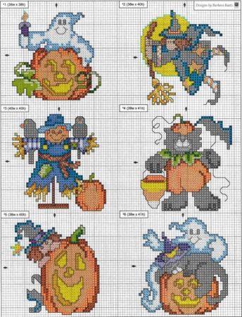 Halloween em ponto cruz 15