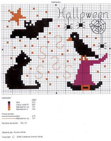 Halloween em ponto cruz 17