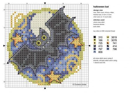 Morcegos em ponto cruz 01