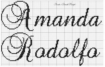 Amanda e Rodolfo BordadoPontoCruz 01